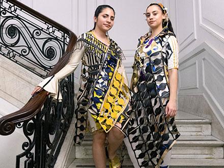 Diseño de vestuario con retazos de cuero