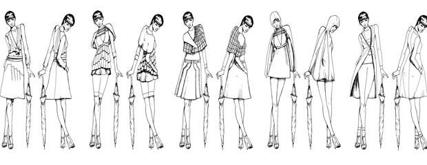 El paso a paso de los figurines de moda