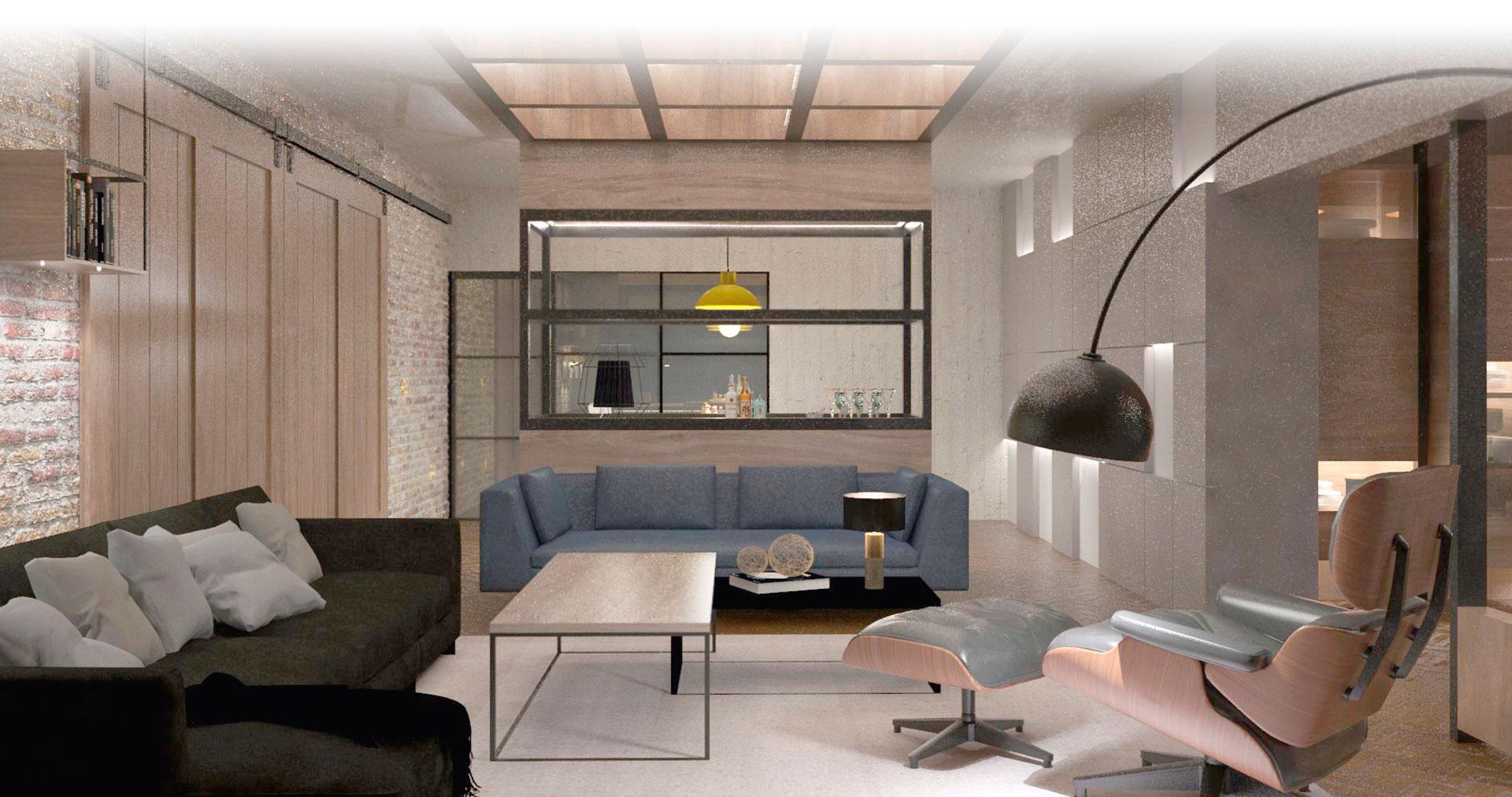 ¿Cómo darle un estilo industrial a un diseño de un espacio residencial?