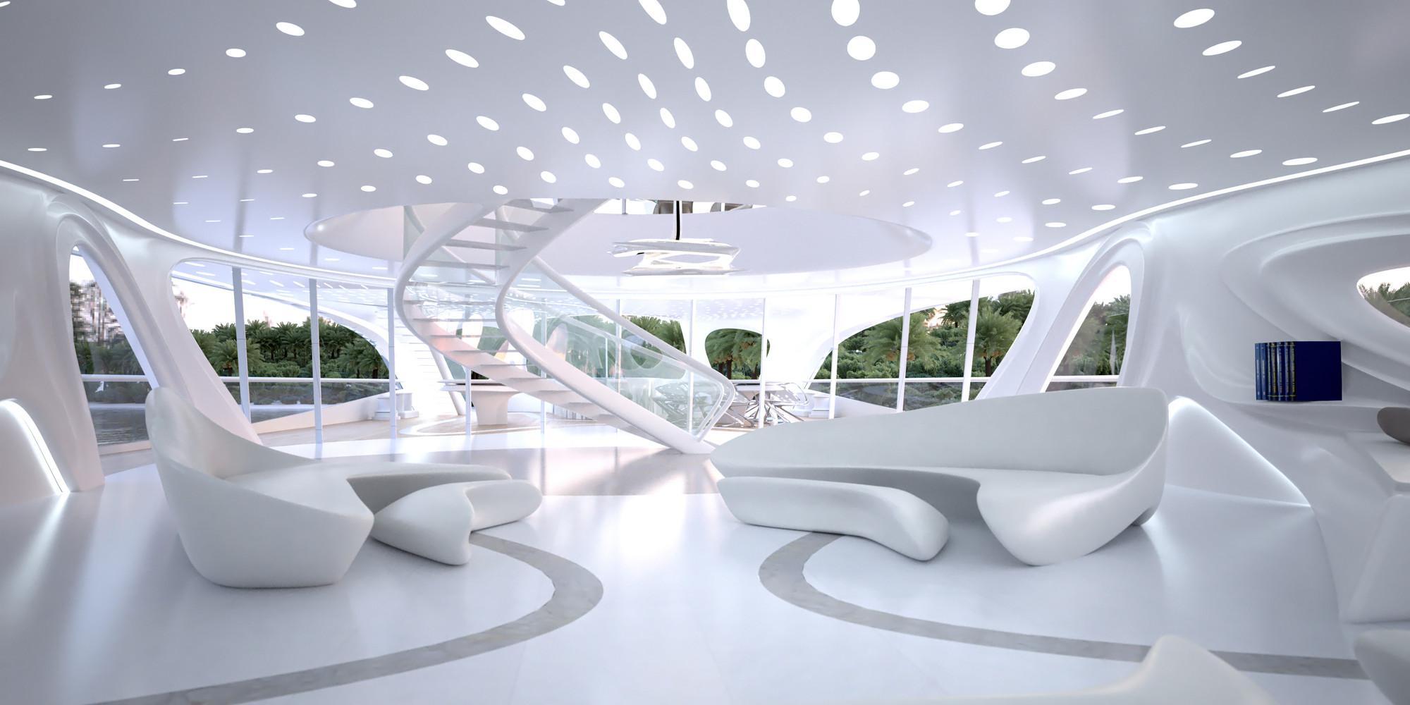 Decoración moderna de diseño de interior